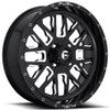 Can Am Fuel Stroke D611 Gloss Black Wheel Set by Fuel Off-Road