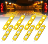 Can Am Amber 8 LED Rock Light Pods Truck Bed Lighting Kit with Switch