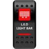 Can Am On/Off Red Lightbar Rocker Switch