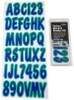 Can-Am Boat Lettering Purple/Teal 3″ Registration Kit
