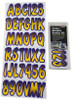 Can-Am Boat Lettering Yellow/Purple 3″ Registration Kit