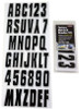 Can-Am Boat Lettering Black/Silver 3″ Registration Kit