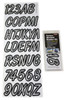 Can-Am Boat Lettering Silver/Black 3″ Registration w/install Kit