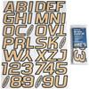 Can-Am Boat Lettering Beige/Black 3″ Registration Kit