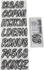 Can-Am Boat Lettering Transparent Clear and Black 3″ Registration kit