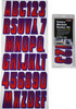 Can-Am Boat Lettering Red/Purple 3″ Registration Kit