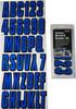 Can-Am Boat Lettering Blue/Black 3″ Registration Kit