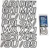 Can-Am Boat Lettering White/Black 3″ Registration Kit