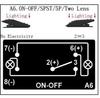 "Can Am 5 Pin Laser Blue Rocker Switch On Off ""Rear Lights"""