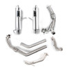 Can Am Maverick Turbo Pink Turn Down Brushed Dual 3/4 System Performance Series Exhaust by HMF Racing