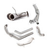 Can Am Maverick Turbo Pink Turn Down Black Dual Full System Performance Series Exhaust by HMF Racing