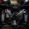 Can Am Maverick Pink Turn Down Brushed Dual 3/4 System Performance Series Exhaust by HMF Racing