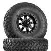 Can Am Maverick D928 Matte Black Beadlock Wheels with Fuel Gripper T | R | K Tires by Fuel Off-Road