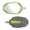 Can-Am Commander / Maverick / Defender Photon Series Cast Aluminum Green Color Bezel & Cap Kit by Seizmik