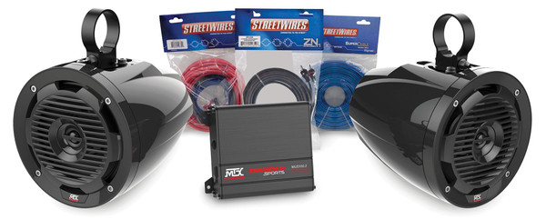 Can-Am 2 Channel Amplifier and 2 Roll Cage Speakers Package Addition by MTX Audio