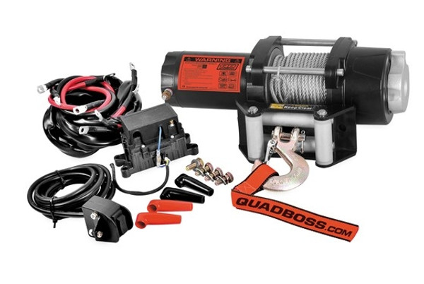 Can-Am 2500 LB Winch with Wire Cable by QuadBoss