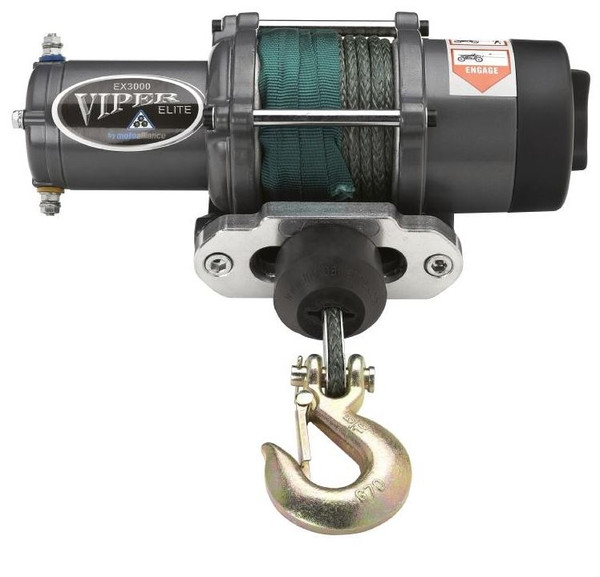 """Can-Am 1/4"""" Synthetic Cable Elite 3000 lb. Winch By Viper"""
