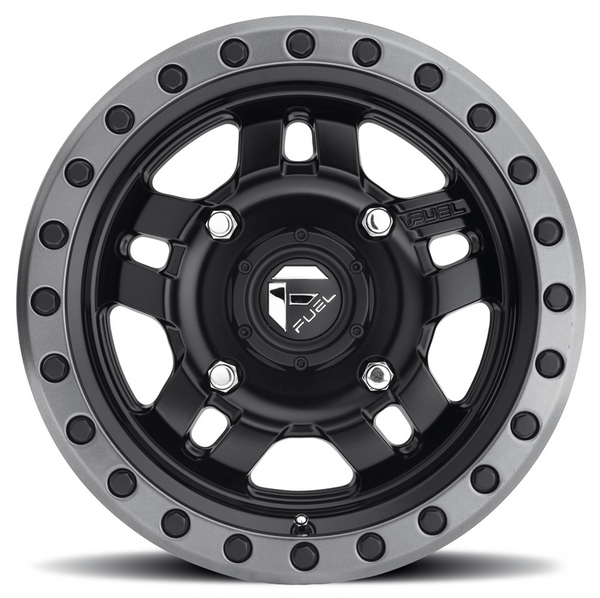 Can-Am Anza D557 Matte Black Wheel Set - 14 and 15 Inch