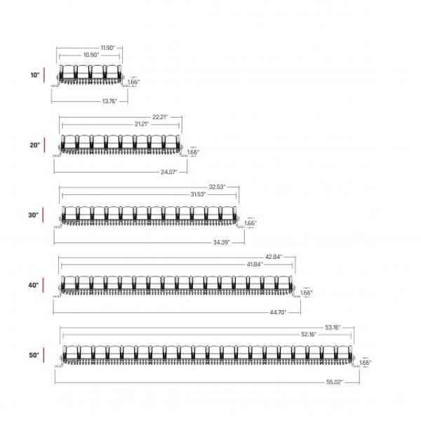 Can Am UTV Adapt LED Light Bars by Rigid