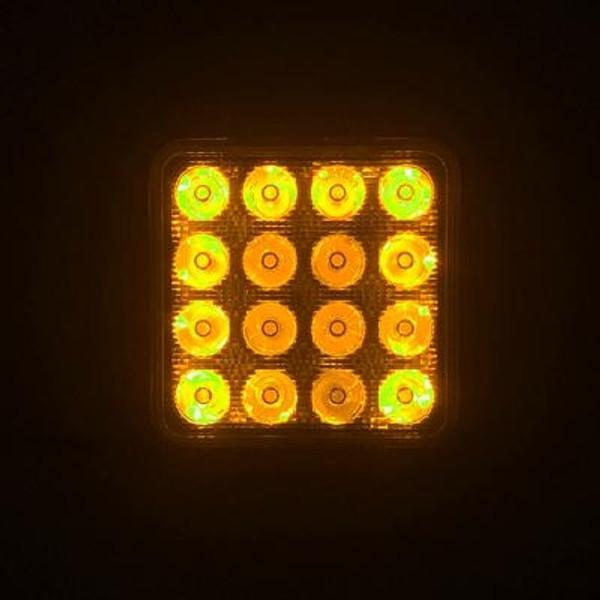 Can-Am 4 Inch Work Light 48 Watt Spot RGB Accent Fracture Series Quad-Lock/Interlock by Quake LED