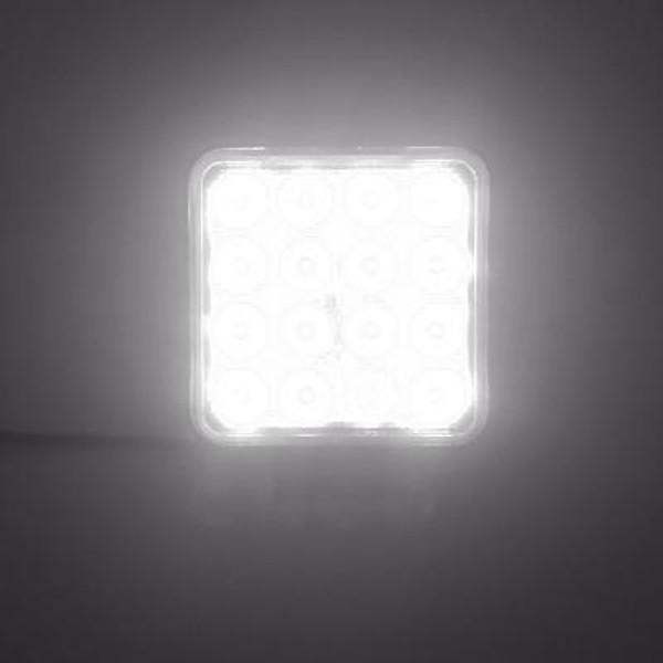 Can Am Commander 4 INCH WORK LIGHT 48 WATT SPOT RGB ACCENT FRACTURE SERIES QUAD-LOCK/INTERLOCK