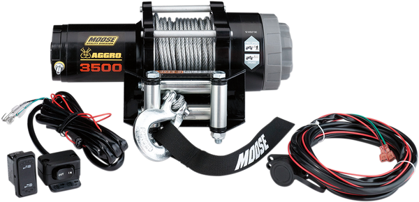 Can-Am 3500lb Winch with Wire Rope MSE by Moose
