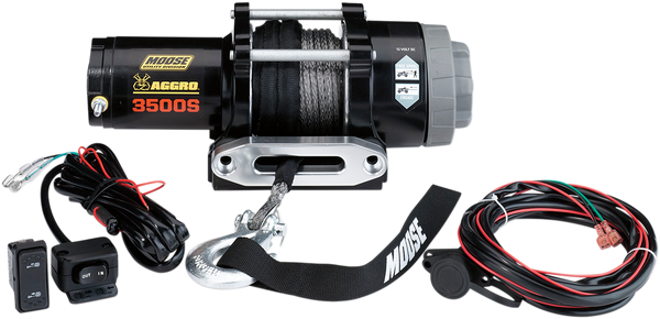 Can-Am 3500lb Winch with Synthetic Rope MSE by Moose