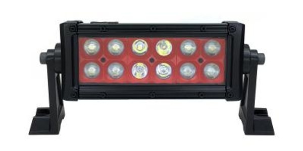Can-Am 8 Inch Led Light Bar Dual Row 36 Watt Combo Red Reflector Ultra Color Series by Quake LED