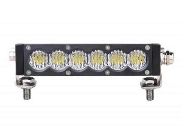Can-Am 7 Inch Led Light Bar Single Row 30 Watt Spot Carbon Series by Quake LED