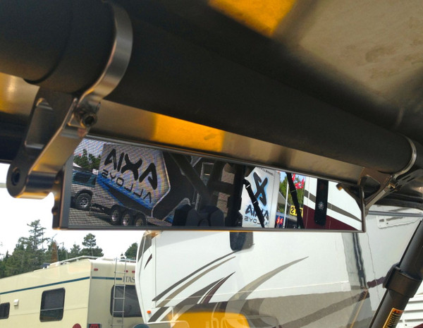 """Can Am Offroad 17"""" Wide Panoramic Rearview Mirror 2.5"""" Arms by Axia Alloys"""