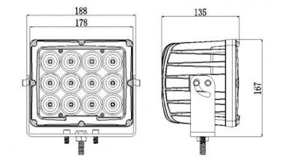 Can Am Commander 6 Inch Work Light 90 Watt Spot Megaton Series