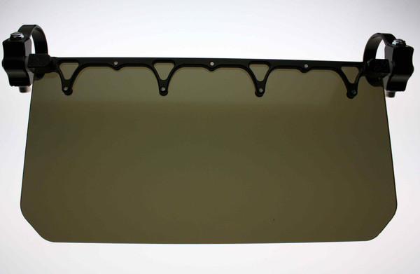 """Can Am Offroad 12"""" Wide Sun Visor Tinted Shield by Axia Alloys"""