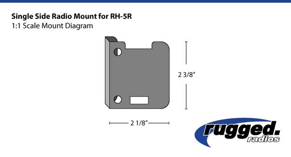 Cam Am Single Side Radio Mount for RH-5R by Rugged Radios