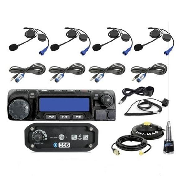 Can-Am 4-Place Intercom with 60 Watt Radio and Alpha Audio Helmet Kits by Rugged Radios
