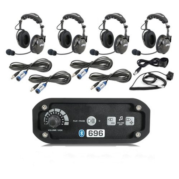 Can-Am 4-Place Intercom with AlphaBass Headsets by Rugged Radios