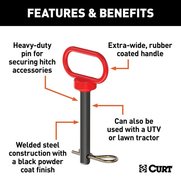 """Can Am 5/8"""" Clevis Pin With Handle And Clip"""