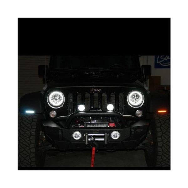 "Can Am Dynamic 4.5"" Amber/White LED Light Bars by Custom Dynamics"