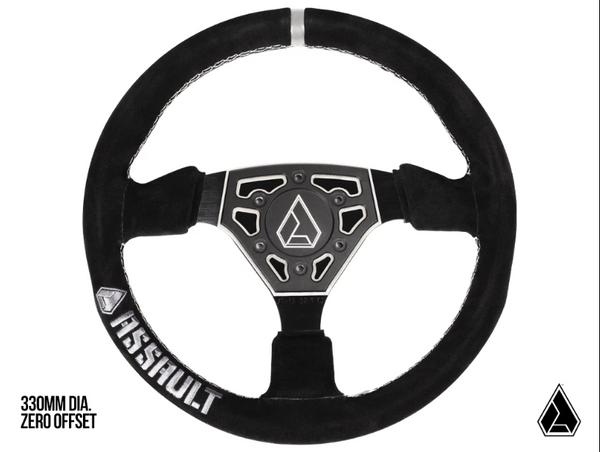 Can Am Navigator Suede Steering Wheel by Assault Industries