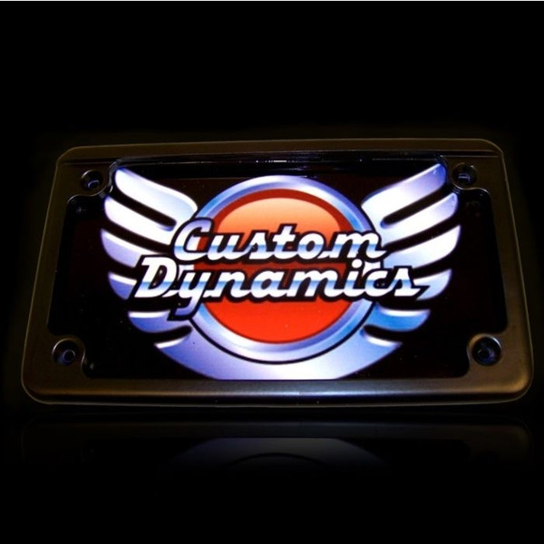 Can Am Horizontal Motorcycle Plate Frames With LED Illumination by Custom Dynamics