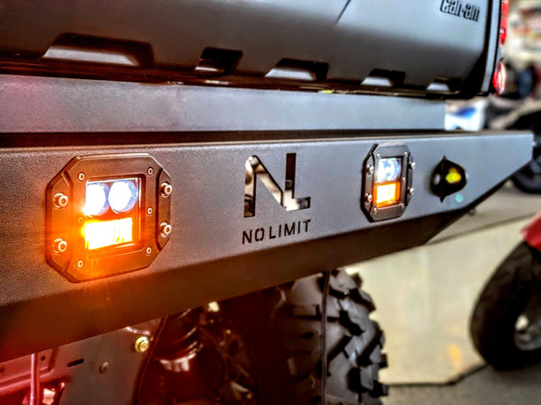 Can Am Defender Gen 2 Rear Bumper with LED Lights by No Limit