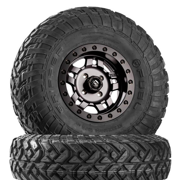 Can Am Fuel Anza D918 Matte Gunmetal Beadlock Wheels with Fuel Gripper R | T Tires by Fuel Off-Road