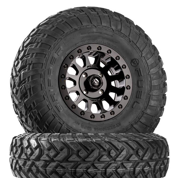 Can Am Fuel Vector D920 Matte Black Beadlock Wheels with Fuel Gripper R | T Tires by Fuel Off-Road