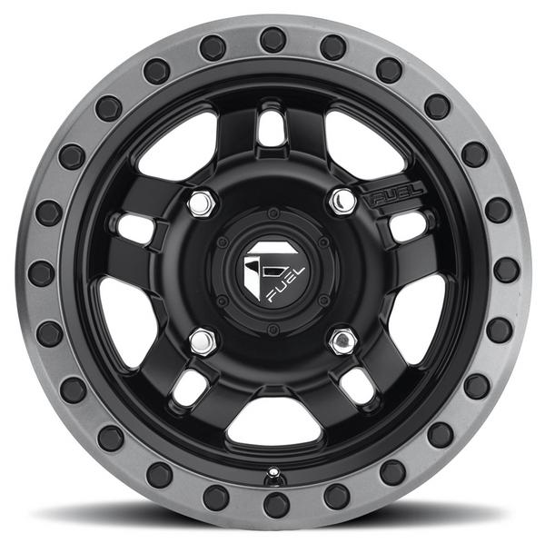 Can Am Anza D557 Matte Black Wheels with Fuel Gripper Tires