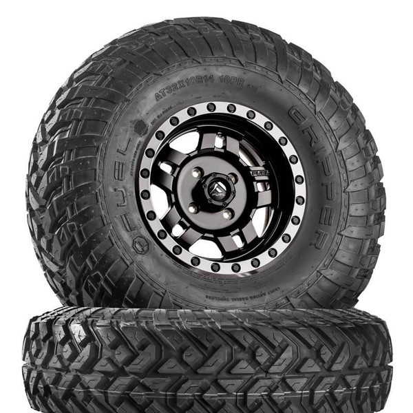 Can Am Anza D557 Matte Black Wheels with Fuel Gripper T | R | K Tires by Fuel Off-Road