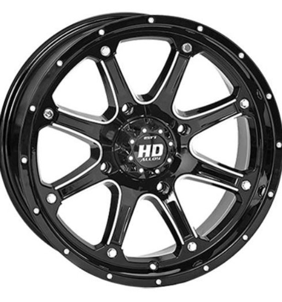 Can Am HD4 Gloss Black Wheels w / Bighorn Radial Tires by Stiand Maxxis