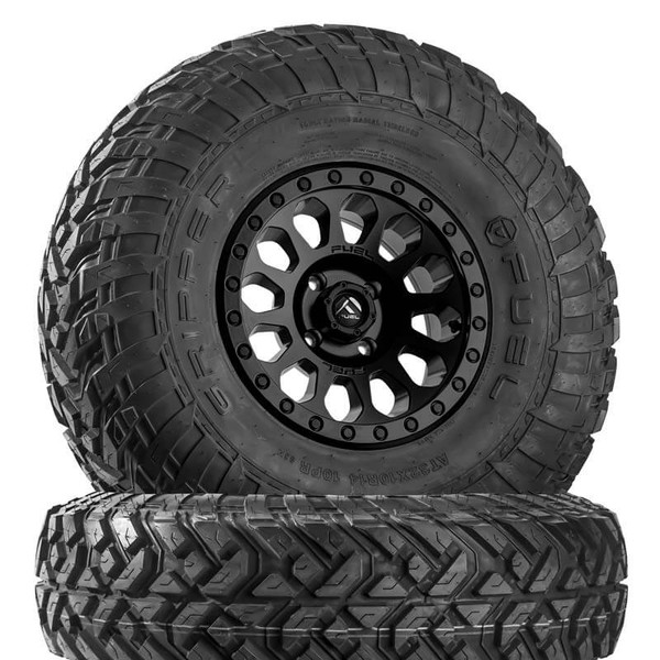 Can Am Vector D579 Matte Black Wheels with Fuel Gripper R | T Tires by Fuel Off-Road