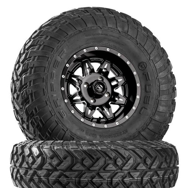 Can Am Lethal D567 Matte Black & Milled Wheels with Fuel Gripper R | T Tires by Fuel Off-Road