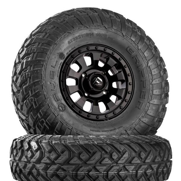 Can Am Fuel Tactic D630 Satin Black Wheels w  Fuel Gripper T   R   K Tires by Fuel Off-Road