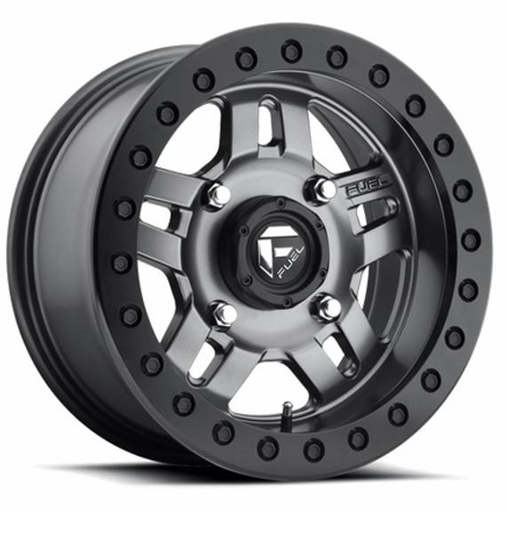 Can Am Fuel Anza D918 Matte Gun Metal Beadlock Wheel Set by Fuel Off-Road