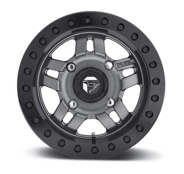 Can Am Fuel Anza D918 Matte Gun Metal Beadlock Wheel Set